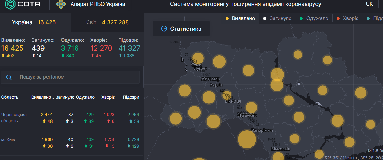 В Украине фиксируют рост динамики заражения COVID-19