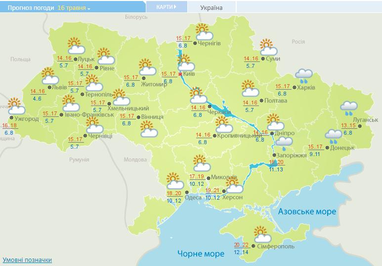 Теплі ночі та без дощів: прогноз погоди на сьогодні