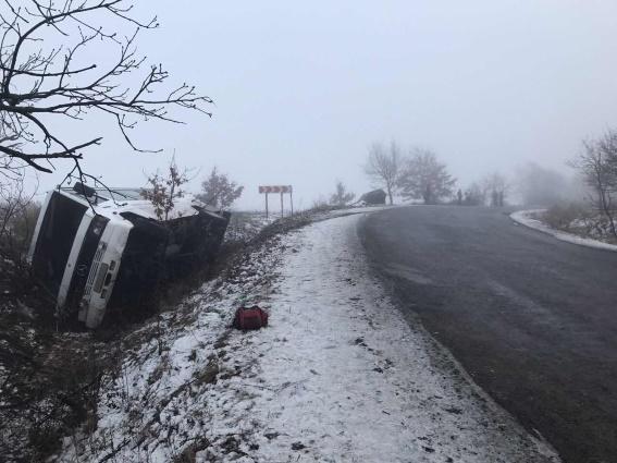 ВЗакарпатской области перевернулась маршрутка спассажирами
