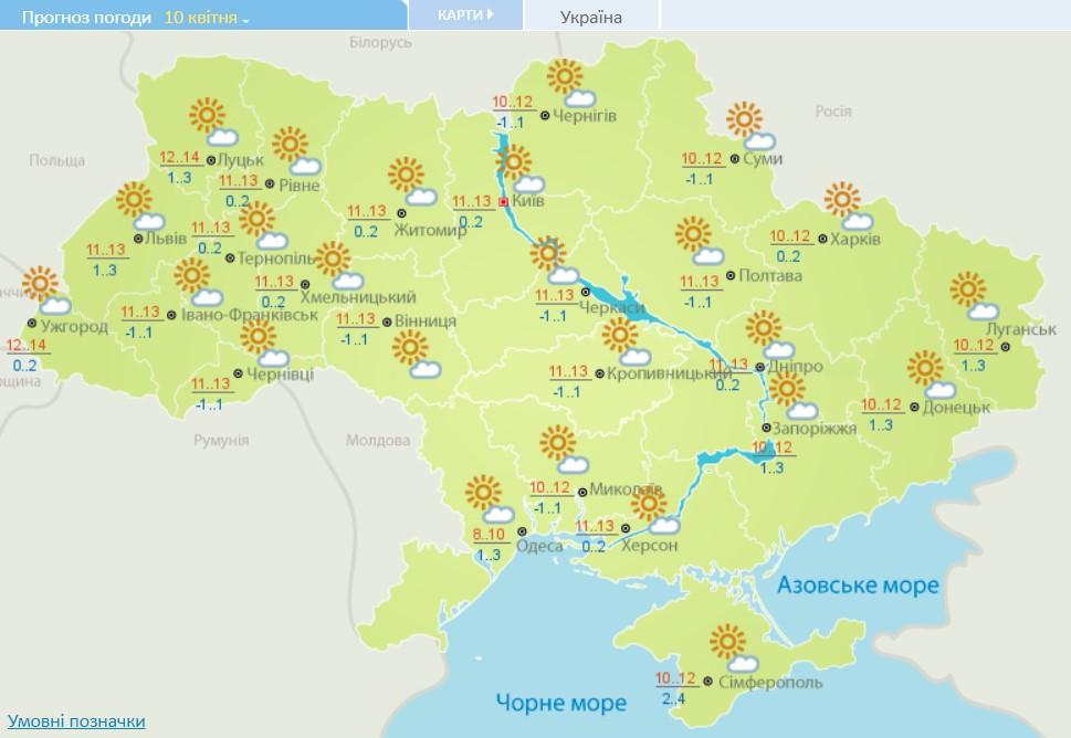 Ясно и до +14 тепла: прогноз погоды на сегодня