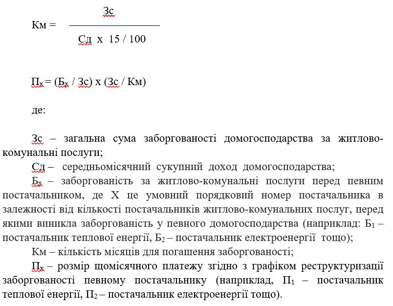 В Украине хотят ввести единый механизм реструктуризации долгов за коммуналку