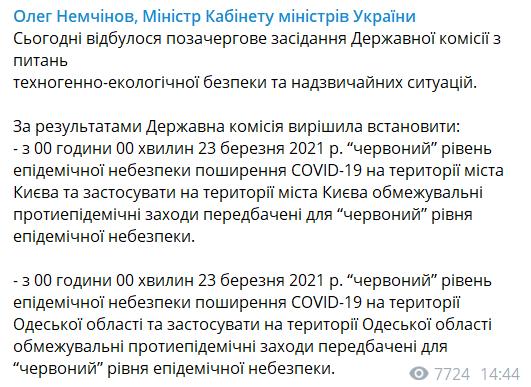 Жорсткий карантин у Києві перенесли: у Кабміні зробили заяву