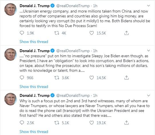 Трамп назвав своїм обов'язком розібратися в ситуації з Байденом і Шокіним