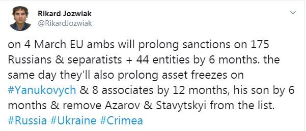 ЕС в марте отменит санкции против Азарова и Ставицкого, - журналист