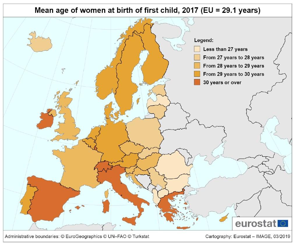 Євростат назвав країну ЄС з найвищою народжуваністю