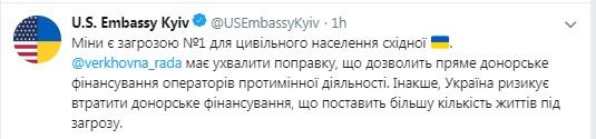 Украине пригрозили потерей средств на разминирование