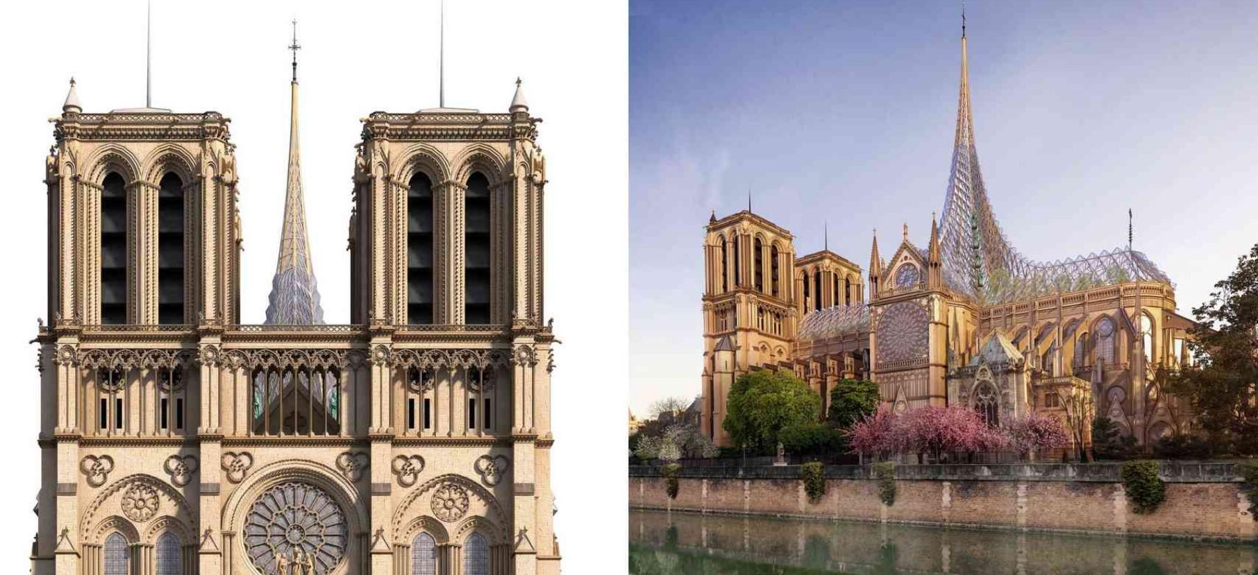 Архитекторы предложили проект Нотр-Дама со стеклянной крышей