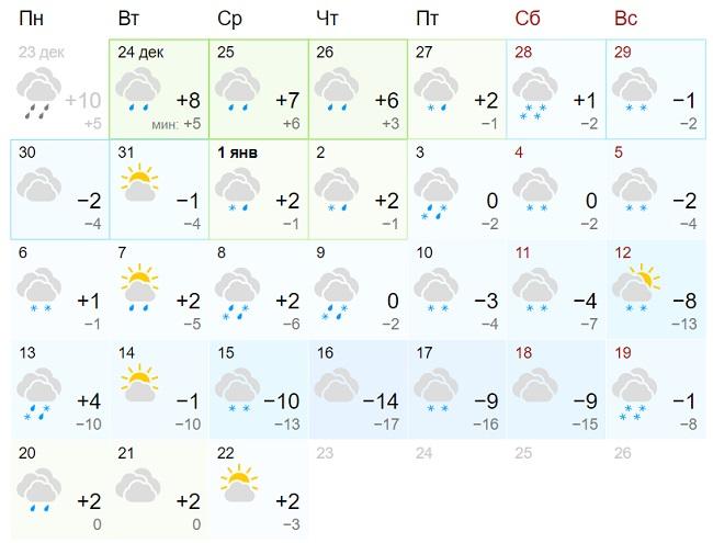 Синоптики ошарашили прогнозом погоды на Новый год 2020