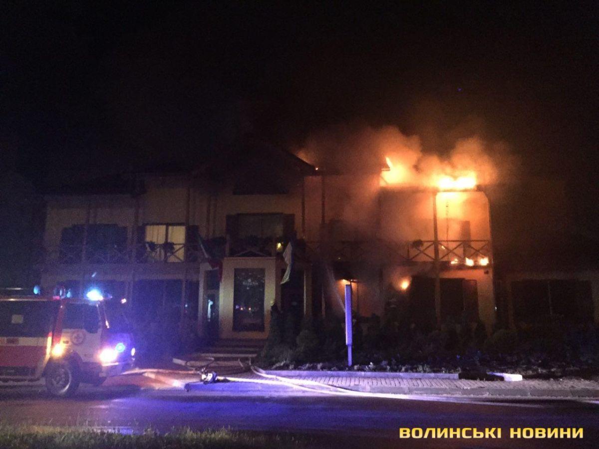 У Луцьку загорівся готель, є постраждалі
