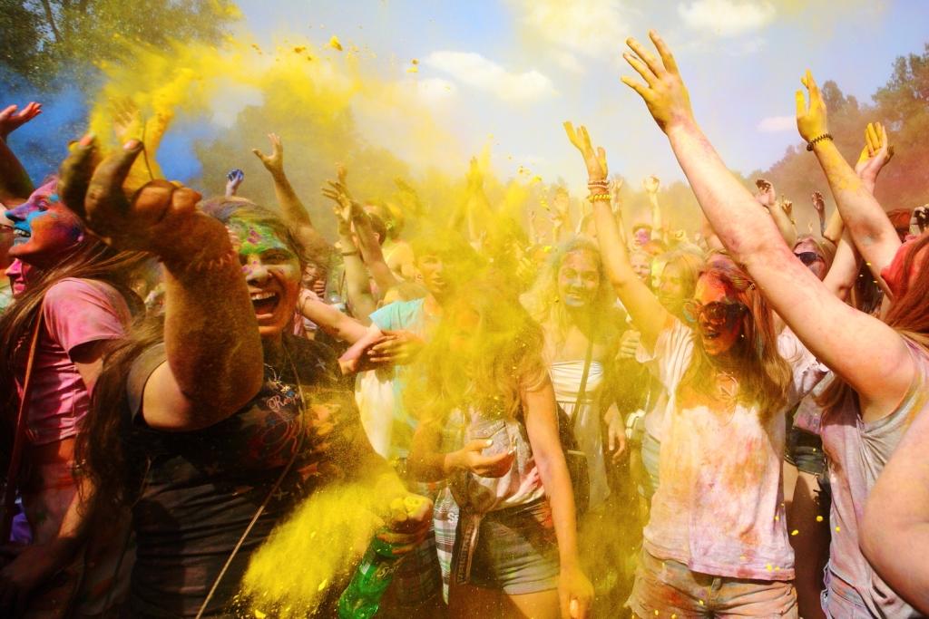 Фестиваль Холи в Киеве