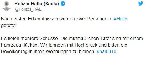 В Германии возле синагоги произошла стрельба, есть жертвы