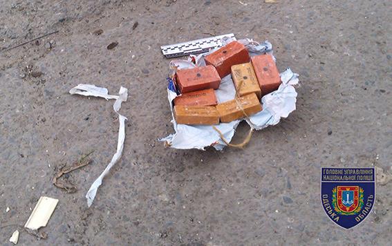 ВОдессе наулице найден пакет с2 килограммами взрывчатки