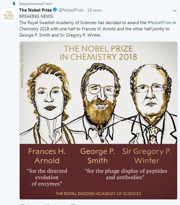 Нобелевскую премию по химии присудили за исследование ферментов и антител