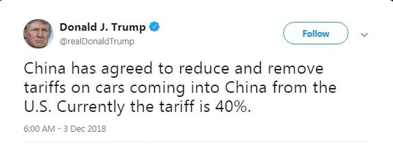 Китай согласился снизить пошлины на автомобили из США, - Трамп