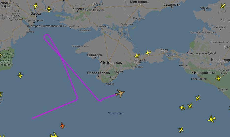 Розвідувальний літак США розпочав патрулювання у небі над Чорним морем