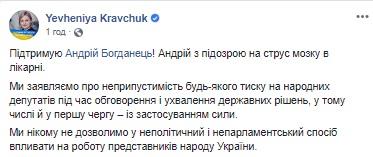 Нардеп Богданец попал в больницу после драки в Раде