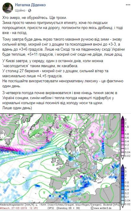 Синоптик предупредила о похолодании в Украине