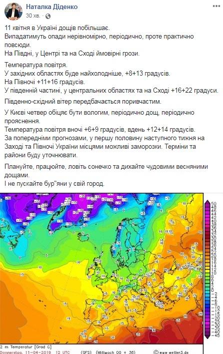 Синоптик предупредила о заморозках в Украине