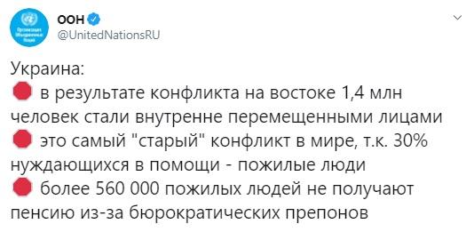 З початку війни на Донбасі 1,4 млн людей стали переселенцями, - ООН