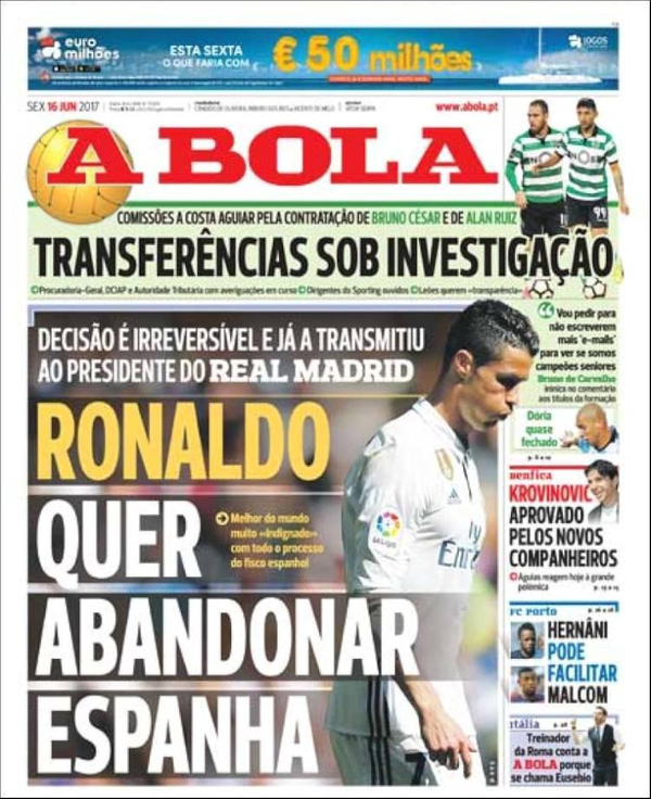 Роналду вирішив піти з«Реалу»,— ЗМІ