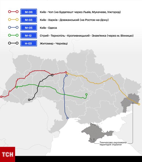 Названы самые опасные дороги в Украине: более тысячи аварий за полгода