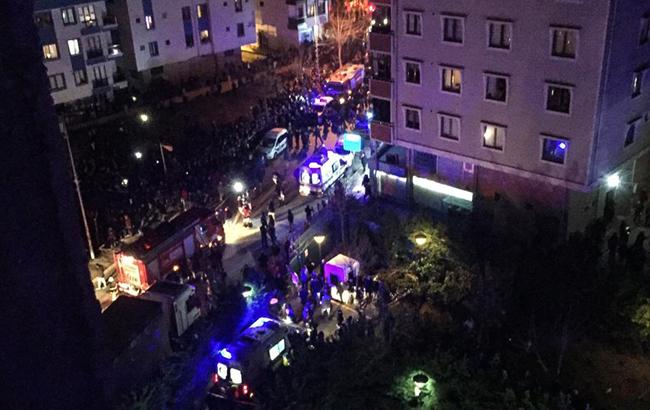В Стамбуле разбился военный самолет