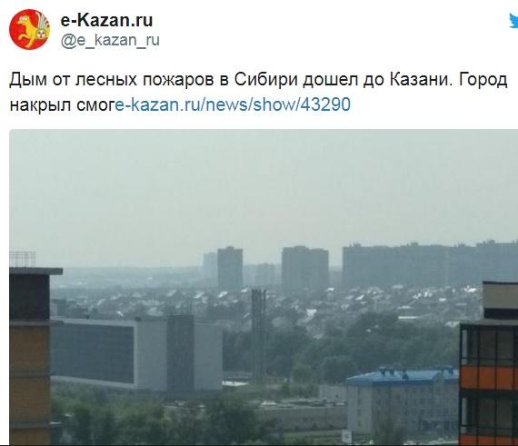 России грозит экологическая катастрофа из-за пожара в Сибири