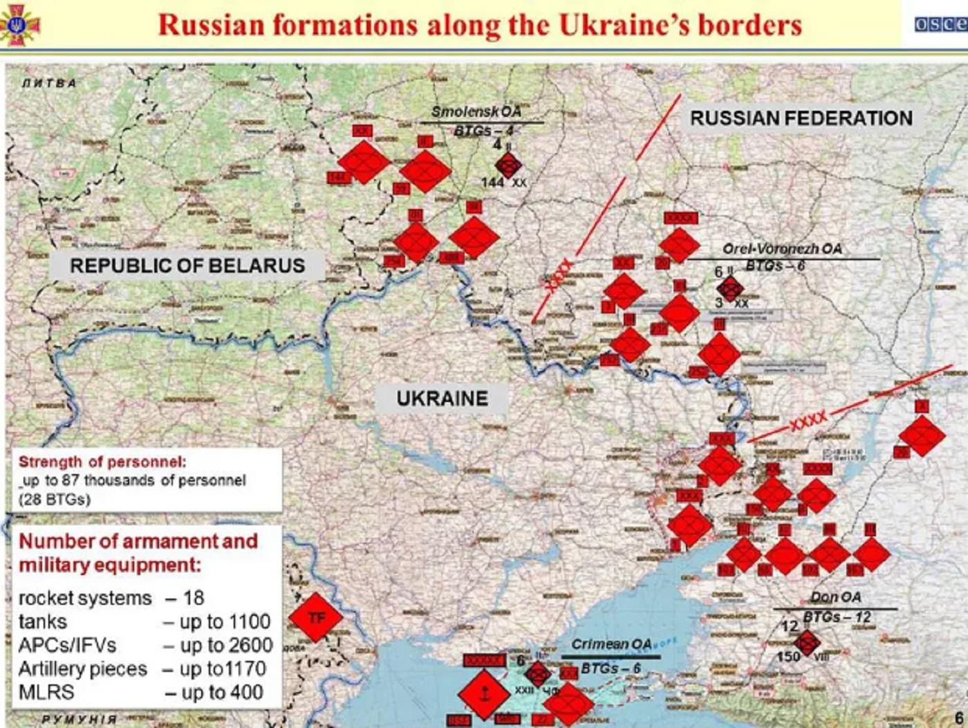 Россия разместила вблизи границы с Украиной готовые к наступлению войска