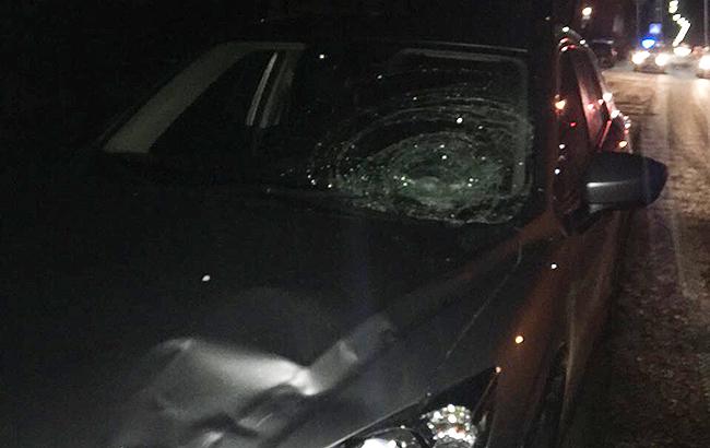 ВоЛьвовской области нетрезвый  шофёр  сбил патрульного ипытался убежать