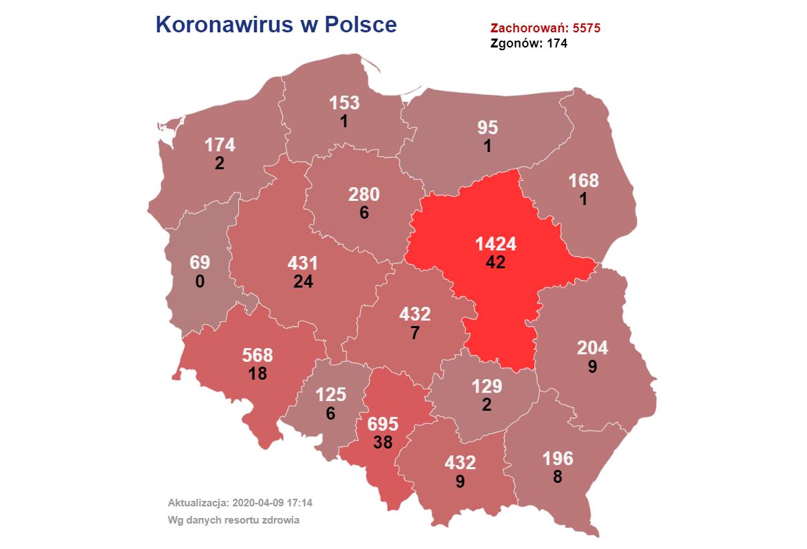 У Польщі за добу померло найбільше хворих на <a href=