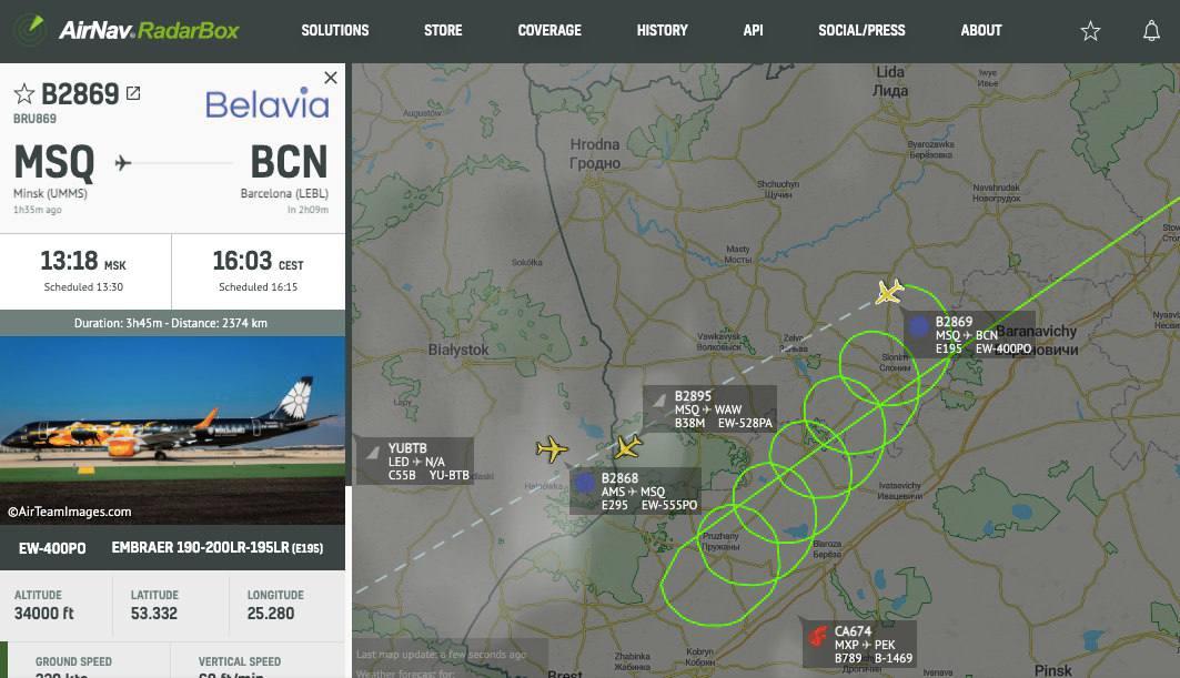 """Вхід заборонено. Літак """"Белавіа"""" не зміг перетнути кордон з Польщею: що відомо"""