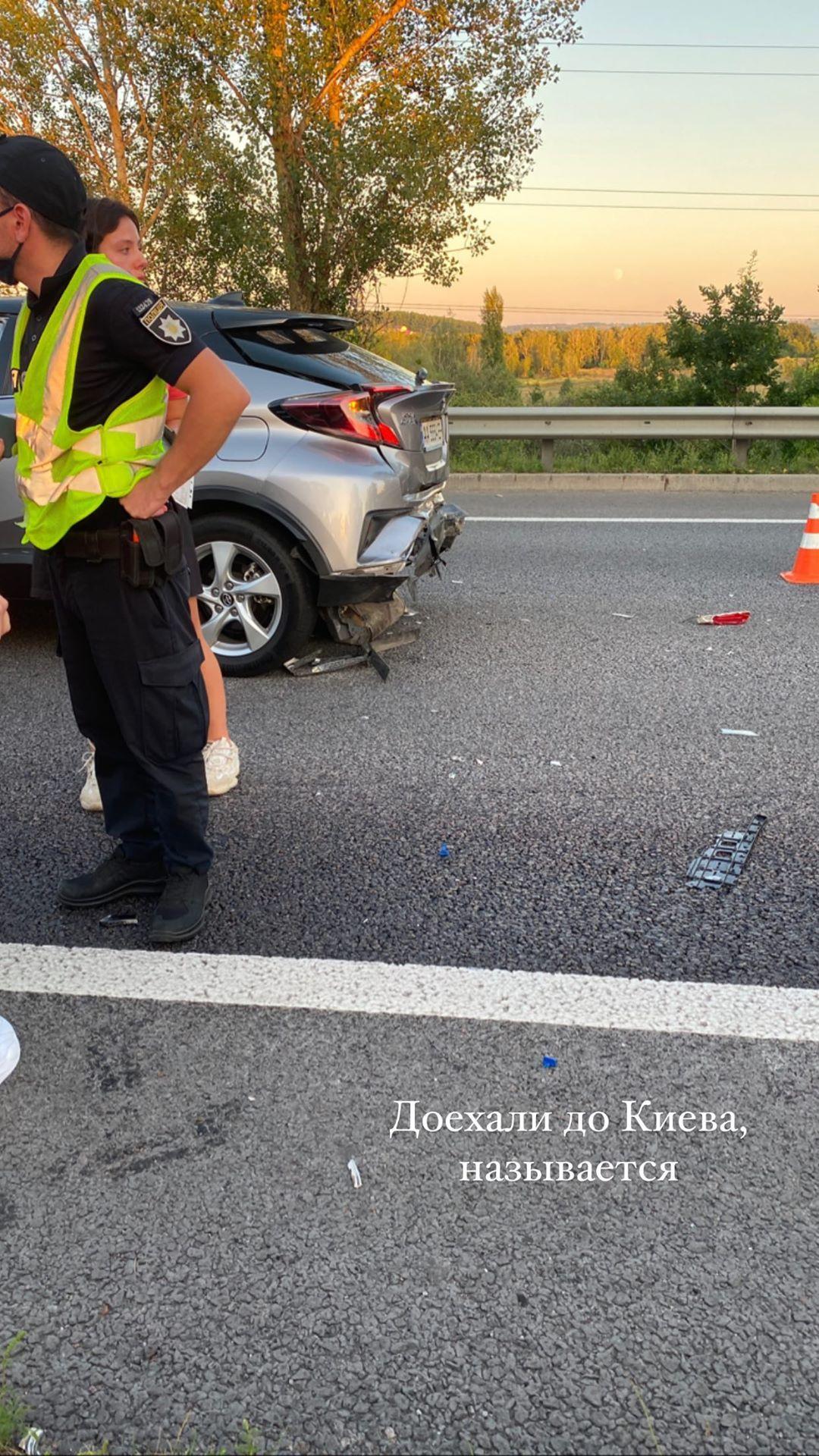 Никита Добрынин и Даша Квиткова попали в серьезное ДТП под Киевом (фото)