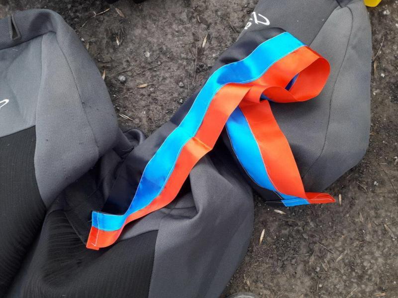 Взоне АТО задержали автомобиль ссимволикой исписками боевиков «ДНР»