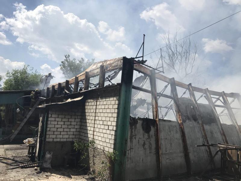 ВКиеве сгорел спортзал наГидропарке