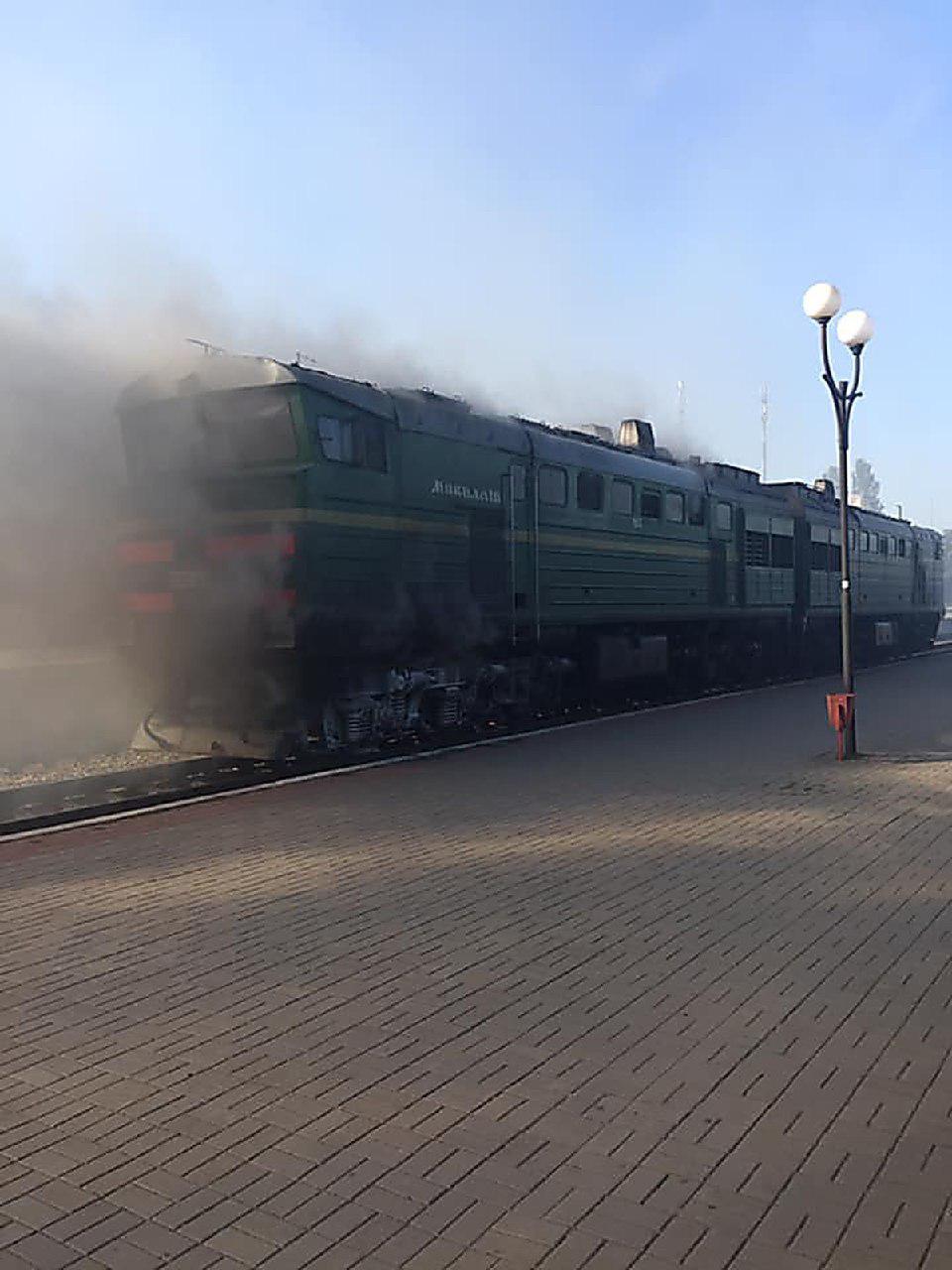 """""""Интерсити"""" Херсон-Киев загорелся в дороге: пылающие фото и видео"""