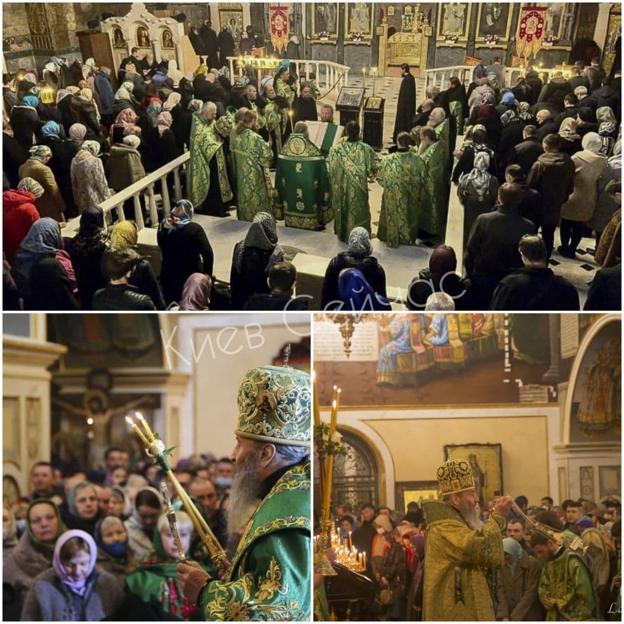У Києво-Печерській Лаврі тисячі парафіян без масок не дотримувалися дистанції: молилися за хворих