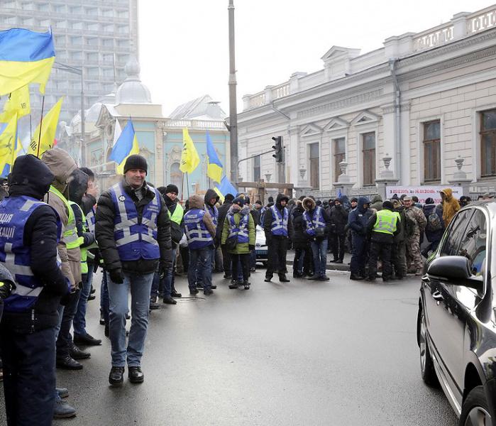 Вцентре украинской столицы усилили меры безопасности из-за митингов