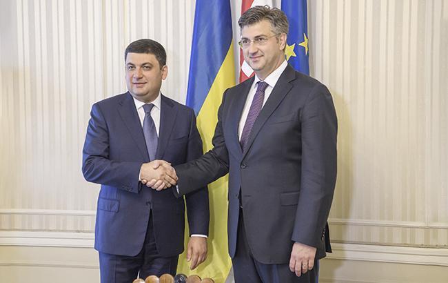 Україна готова приєднатися догазового коридору зХорватією таУгорщиною— Гройсман
