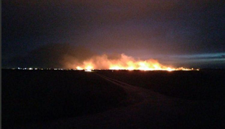 Под Одессой случился масштабный пожар: дым видно за километры (видео)