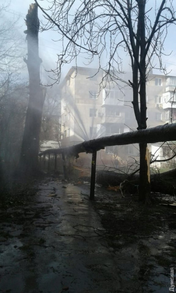 В Одессе несколько домов остались без отопления из-за непогоды