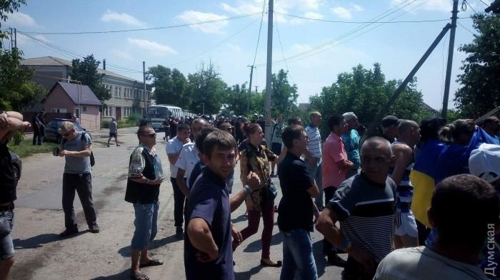 Под Одессой строение суда забросали коктейлями Молотова