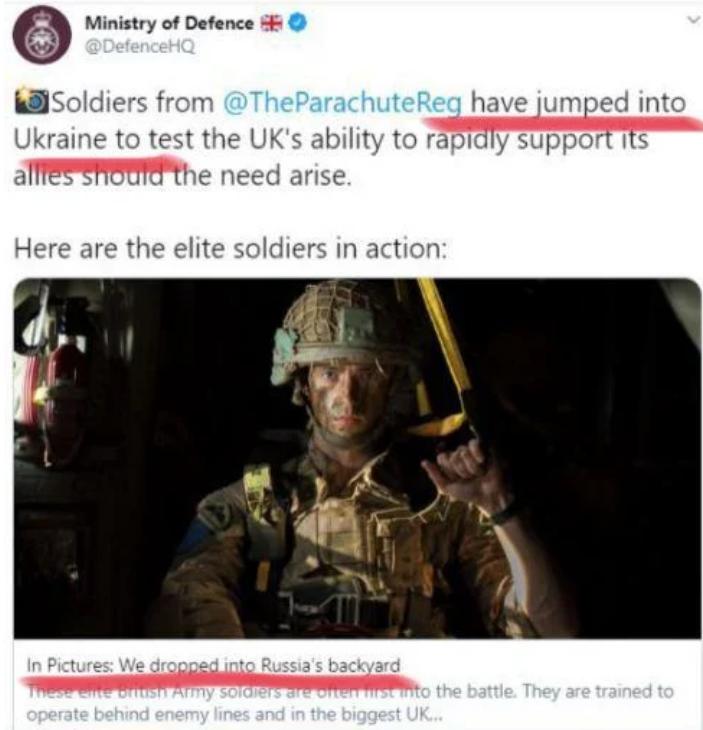 Задний двор России: Великобритания попала в скандал после поста о военных учениях в Украине