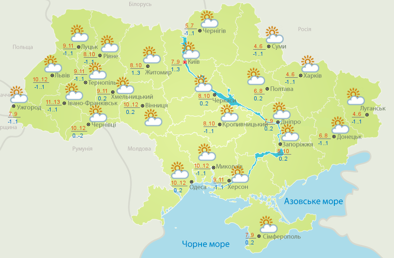 Завтра в Украине потеплеет Завтра в Украину придет потепление