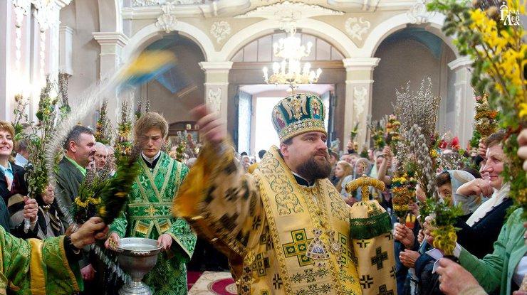 Освящение вербы на Вербное воскресенье
