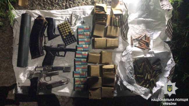 В Днепропетровской области полицейские изъяли арсенал оружия и боеприпасов