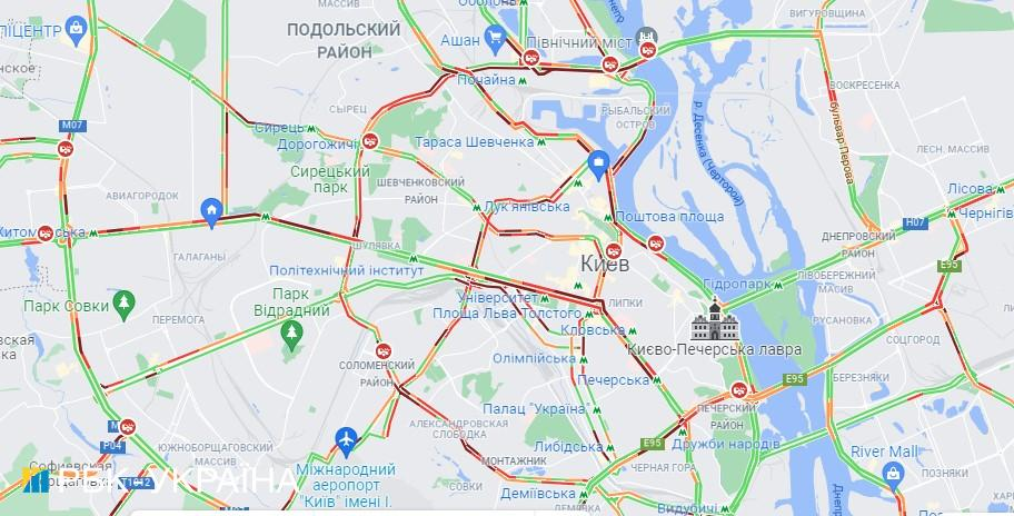 Киев вечером остановился в пробках: какие улицы лучше объехать