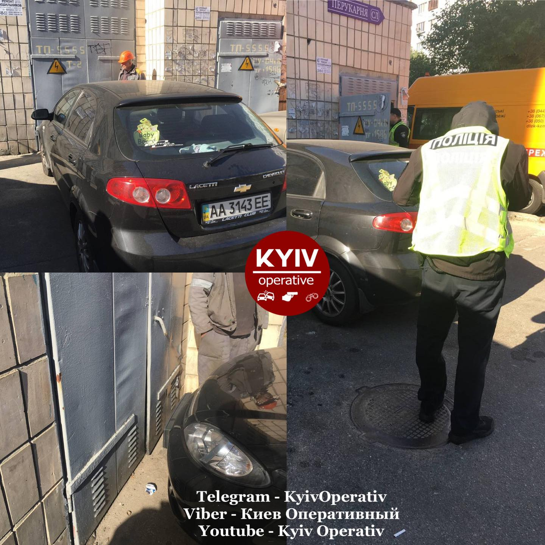"""В Киеве """"героиня парковки"""" оставила без света 16 домов (фото)"""