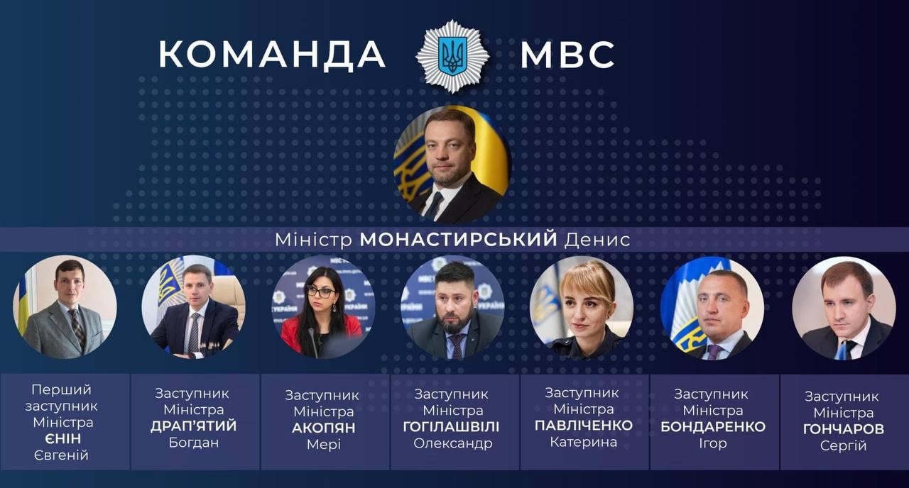 Монастирський представив свою команду: хто отримав крісла в МВС