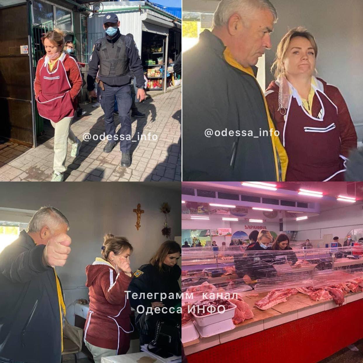 Под Одессой на рынке продавщицы мяса устроили разборки на ножах: чем все закончилось (фото)