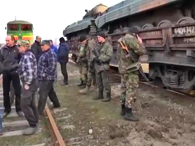 В Луганській обл. місцеві жителі перекрили шлях поїзду з військовою технікою з Києва, - ЗМІ
